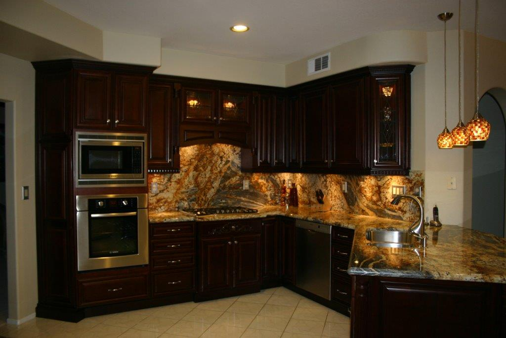 Highlight your custom kitchen cabinets with lighting for Kitchen cabinets 0 financing