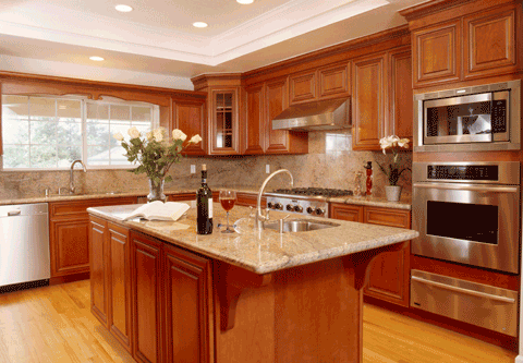 Kitchen cabinet refacing is faster than replacing cabinets