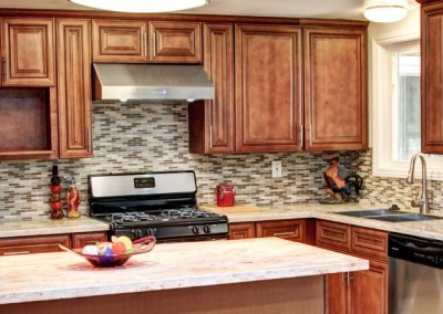 AA Pecan Rope kitchen cabinets