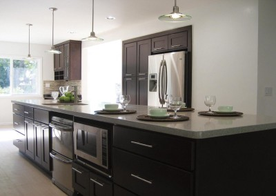 CW Beech Espresso Shaker kitchen cabinets