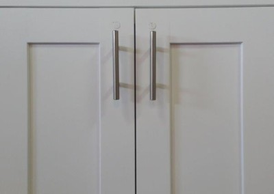 CW Beech White Shaker Kitchen Cabinet Door Style
