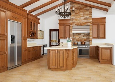 CW Coffee Glaze kitchen cabinets