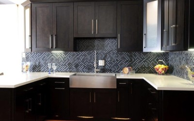 Stock cabinets in Shake style with Espresso finish