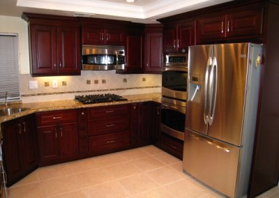 HP Dark Cherry kitchen cabinets