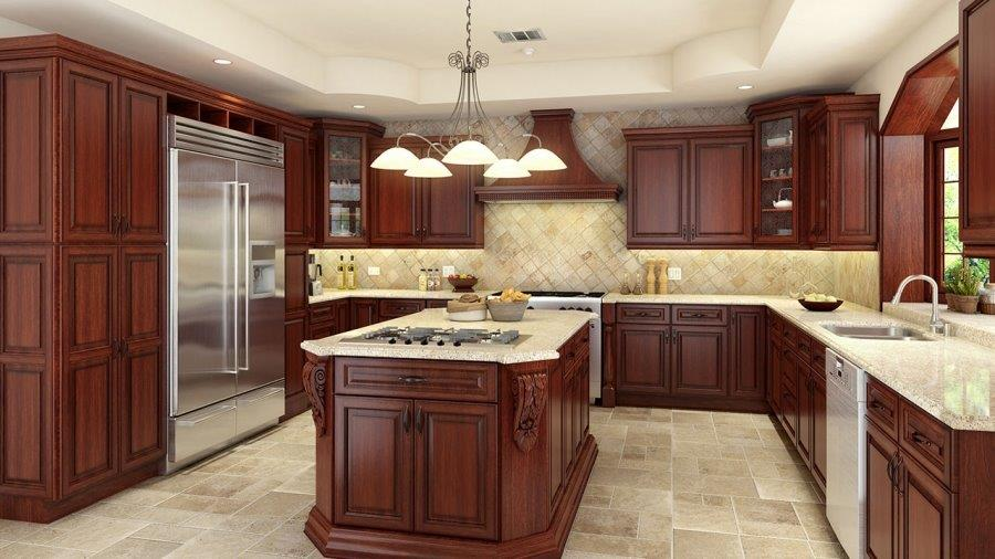 Talk to a pro about stock kitchen cabinets remodeling for Cherry kitchen cabinets