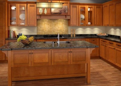 ML Cinnamon Shaker kitchen cabinets