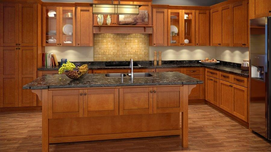 ML Cinnamon Shaker kitchen cabinet door style