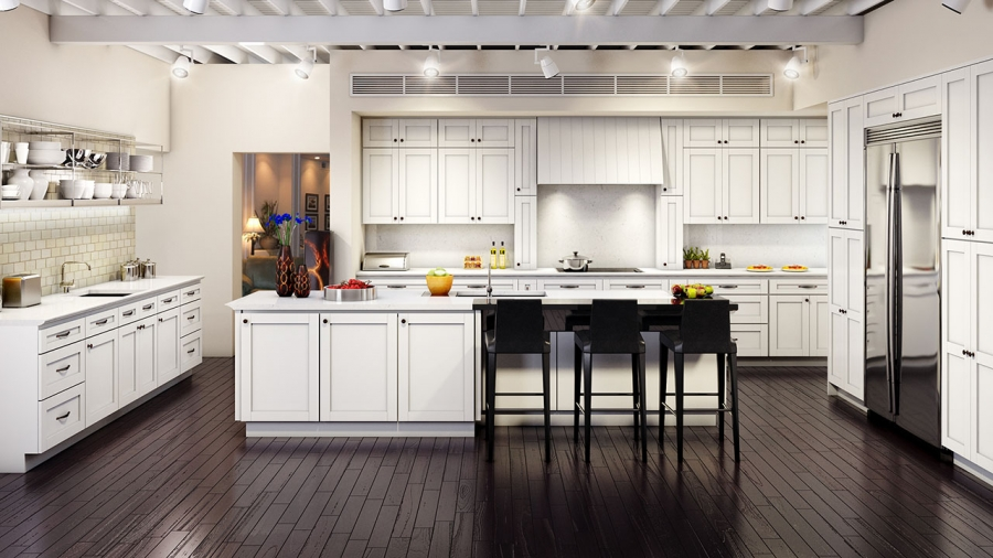 Ml White Shaker Kitchen Cabinets ⋆ Cabinet Wholesalers