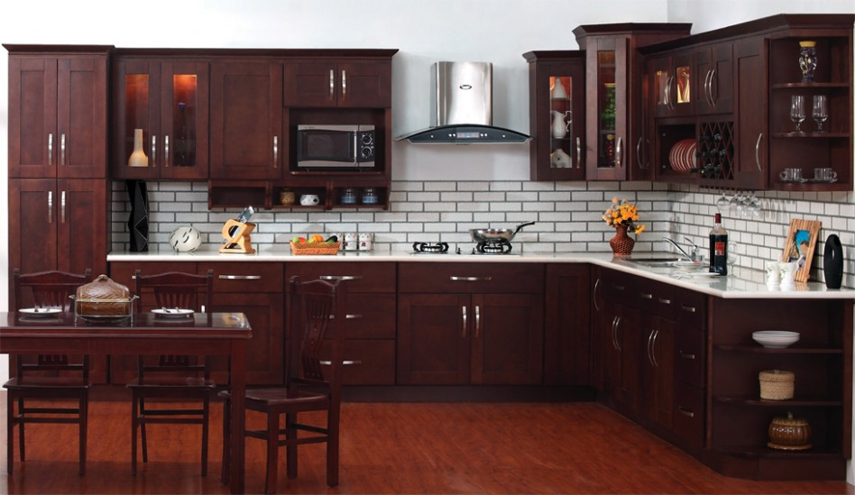 PC Espresso Shaker kitchen cabinets