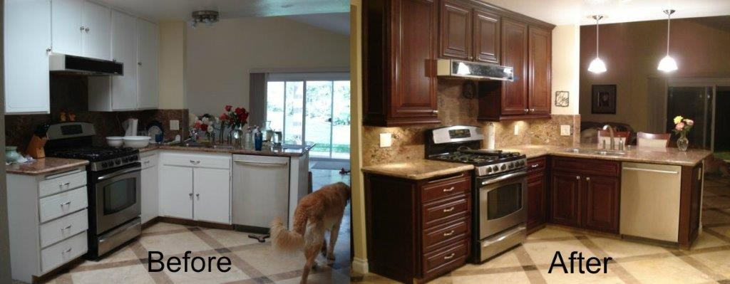 Kitchen Cabinets Refacing Before And After give your kitchen a facelift with kitchen cabinet refacing