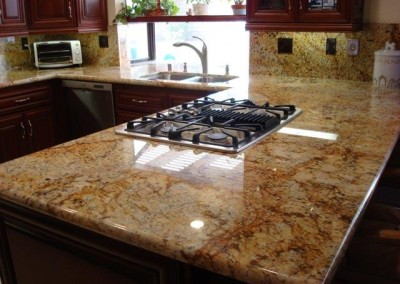 Gorgeous granite kitchen countertops