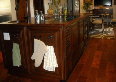 Kitchen cabinet island