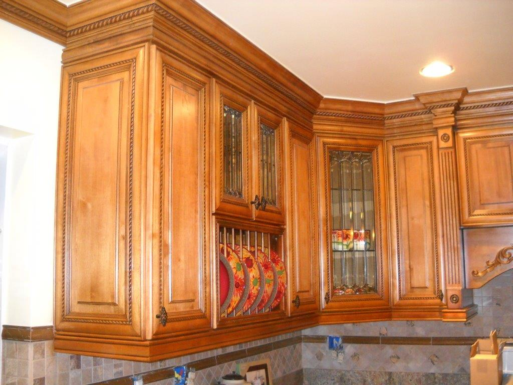 custom kitchen with rope molding as cabinet trim. ⋆ cabinet