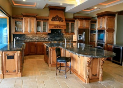 Gourmet kitchen cabinets
