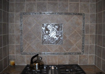 Decorative tile in kitchen