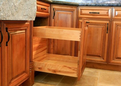 Pull out double drawers