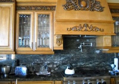 Add a decorative touch to your custom kitchen cabinets
