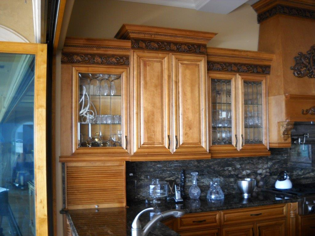 Mix Of Glass And Solid Kitchen Cabinet Doors Cabinet Wholesalers