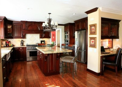 Kitchen cabinets with island
