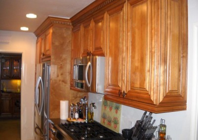Kitchen cabinets with dentil molding