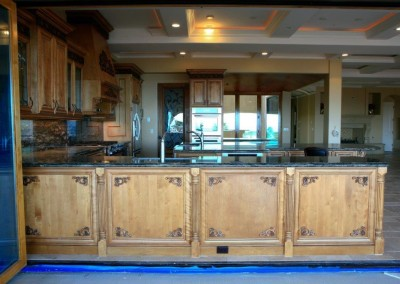 Custom kitchen with decorative woodwork