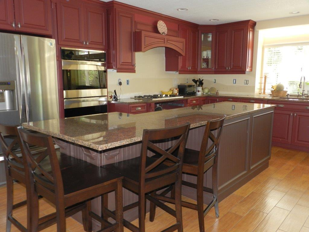 High Quality Stock Kitchen Cabinets With Beadboard Island In Santa Ana