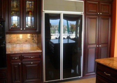Decorative glass cabinet doors