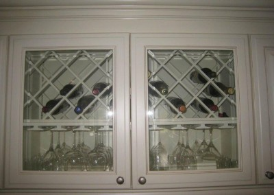 Wine and bar glass storage cabinets