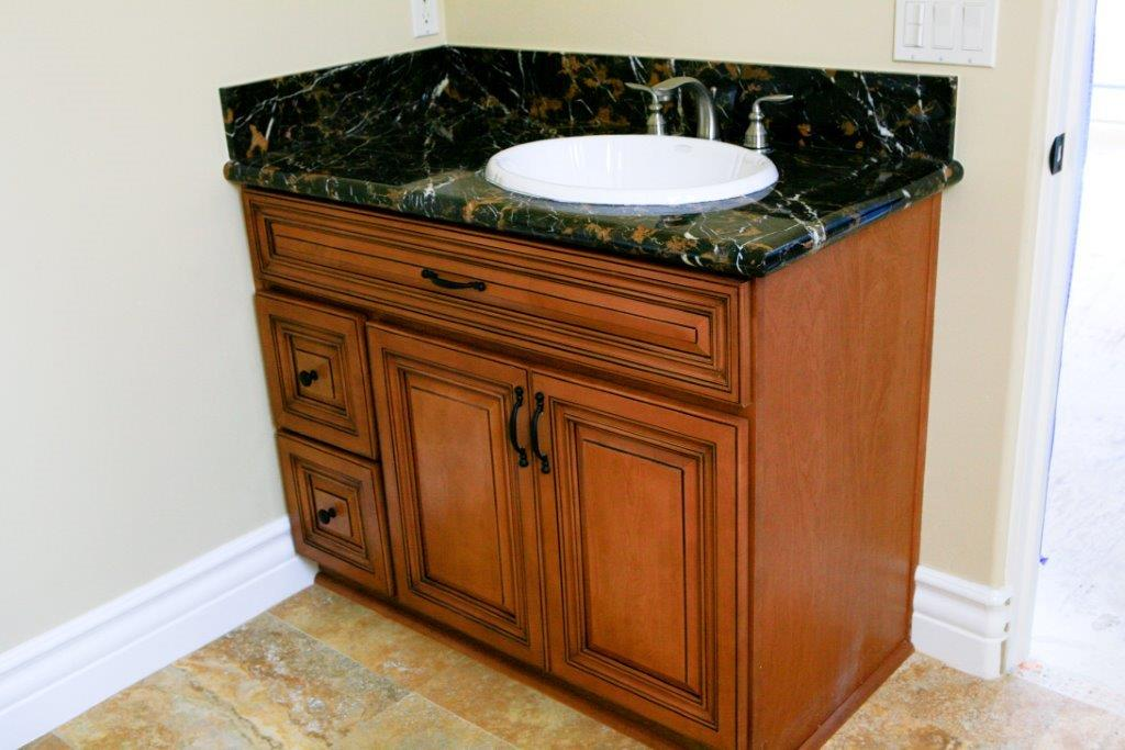 Bathroom Vanity Cabinets With Black Countertop