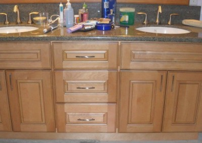 Bathroom vanity cabinetry