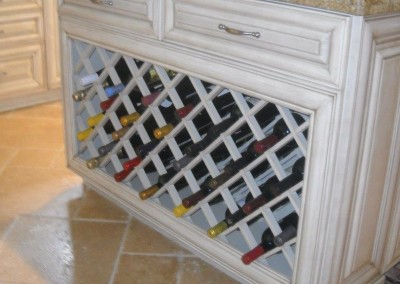 Built in wine storage