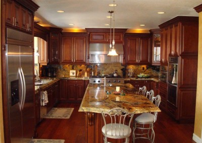 Kitchen cabinets of varying heights