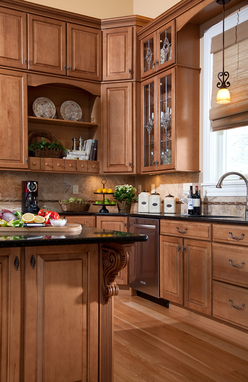 Waypoint and schrock kitchen cabinets made in the usa for Custom kitchen remodeling