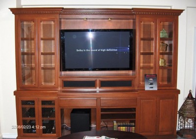 Put everything away in your new tv cabinets
