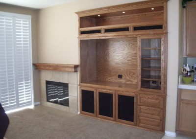 Custom oak cabinets in Norco