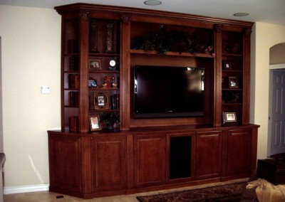 Built in shelves and tv stand in Riverside