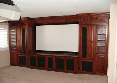 Built in custom home theater cabinets