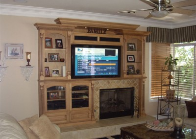 Custom maple entertainment center