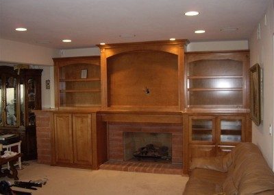 Built in entertainment center cabinet