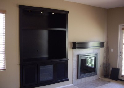 Built in espresso wall unit in shaker style