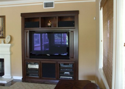 Simple wall unit with media storage