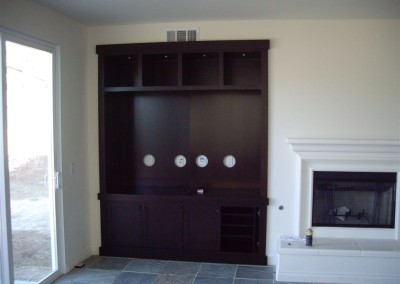 Entertainment tv stand with simple lines