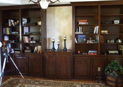 Add a built in bookcase to your study or home office
