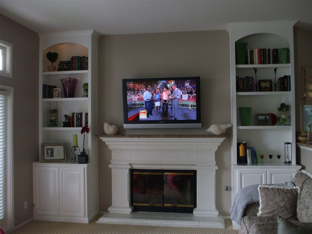 Bookcases Next To Fireplace Trend