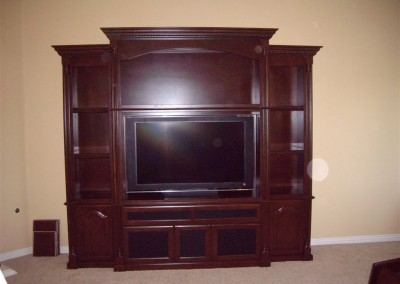 Arched top wall unit