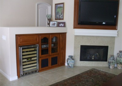 Cabinets with built in wine storage