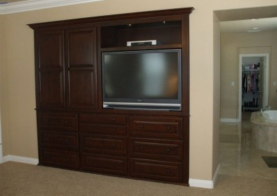 Custom bedroom tv cabinet