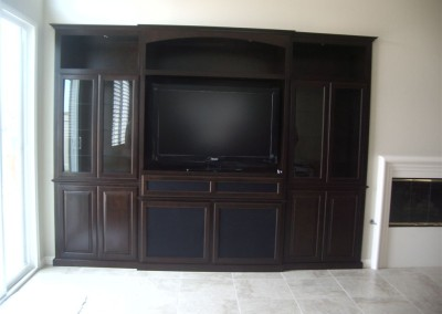 Living room tv stand built ins