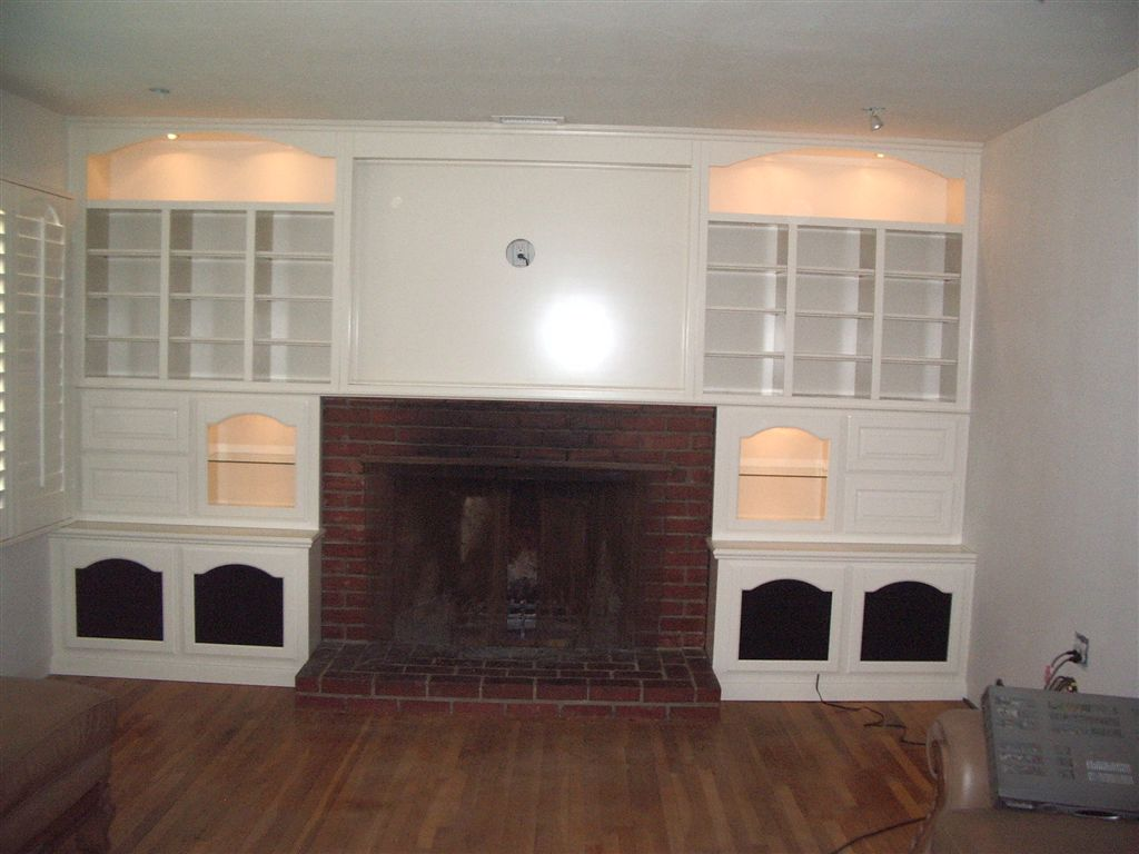 White Bookcase Cabinets Around Fireplace ⋆ Cabinet