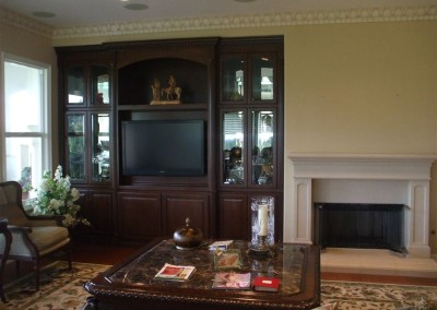 Built in wall unit in custom home